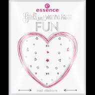 Наклейки для ногтей Girls just wanna have fun Еssence 01 diamonds are a girls best friend: фото