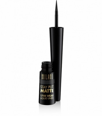 ВОДОСТОЙКАЯ ЖИДКАЯ ПОДВОДКА Milani Cosmetics STAY PUT MATTE 17HR WEAR LIQUID EYELINER 01 BLACK MATTE: фото