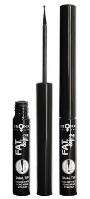 Подводка жидкая для век 2-в-1 Bronx Colors Fat & Fine Liner BLACK: фото