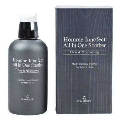 Тонер мужской многофункциональный для жирной кожи THE SKIN HOUSE HOMME INNOFECT CONTROL ALL-IN-ONE SOOTHER 130 мл: фото