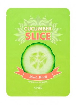 Маска-слайс с огурцом A'PIEU Cucumber slice sheet mask 20 г: фото