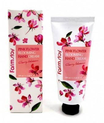 Крем для рук с цветком вишни FARMSTAY Pink flower blooming hand cream cherry blossom 100 мл: фото