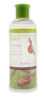 Тонер с экстрактом улитки FARMSTAY Visible differerce moisture toner snail 350мл: фото