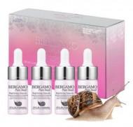 Сыворотка ампульная с муцином улитки для сияния кожи BERGAMO Pure snail brightening ampoule (4 ампулы по 13 мл)