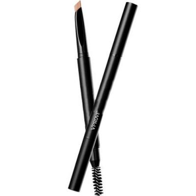 Скошенный карандаш для бровей VPROVE No Make-up Hard Formula тон BR03, светло-коричневый, 0,3г: фото
