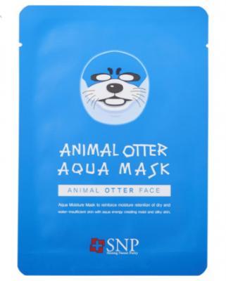 Увлажняющая маска для лица SNP Animal otter aqua mask 25 мл: фото