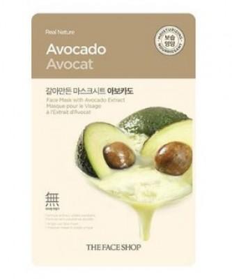 Маска с экстрактом авокадо THE FACE SHOP Real nature mask sheet avocado 20 г.: фото