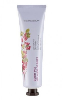Крем для рук парфюмированный THE FACE SHOP Daily perfumed hand cream 04 Berry Mix 30 мл: фото
