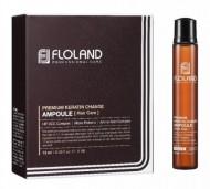 Ампулы для восстановления поврежденных волос FLOLAND Premium Keratin Change Ampoule 13 мл*10: фото