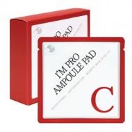 Пэд, пропитанныйвитамином С 15% для яркости кожи WISH FORMULA I'm Pro Ampoule Pad-C (Red) 7мл: фото