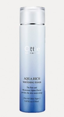Увлажняющий и отбеливающаий тонер OTTIE Aqua Rich Whitening Toner 150мл: фото