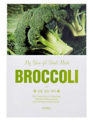 Тканевая маска с брокколи A'PIEU My Skin-Fit Sheet Mask Broccoli: фото