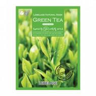 Маска тканевая с экстрактом зеленого чая LEBELAGE Green Tea Natural Mask, 23г: фото