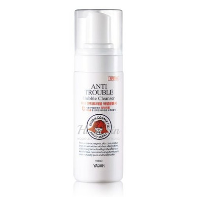Пенка для умывания YADAH ANTI TROUBLE BUBBLE CLEANSER 150мл: фото