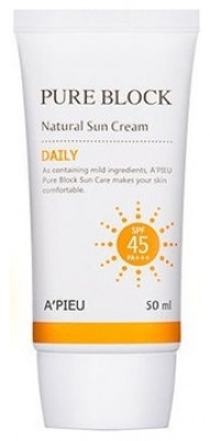 Солнцезащитный крем A'PIEU Pure Block Natural Daily Sun Cream 50мл: фото