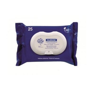 Салфетки успокаивающие для снятия макияжа с глаз с экстрактом Василька Klorane Eye Care Range 25 шт: фото