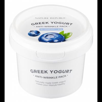Маска йогуртовая от морщин с экстр. черники GREEK YOGURT PACK_BLUE BERRY ANTI-WRINKLE 130мл: фото