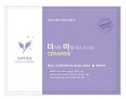 Маска тканевая для чувствительной кожи NATURE REPUBLIC REAL COMFORTING MASK SHEET [CERAMIDE] 24г: фото