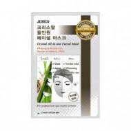 Маска тканевая с улиточным муцином Mijin Junico Crystal All-in-one Facial Mask Snail 25гр: фото