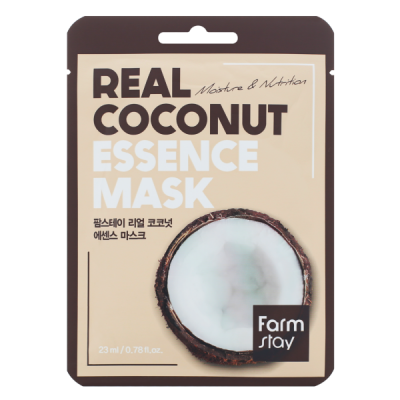Тканевая маска для лица с экстрактом кокоса FARMSTAY REAL COCONUT ESSENCE MASK 23 мл: фото