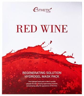 Маска для лица гидрогелевая ESTHETIC HOUSE RED WINE REGENERATING SOLUTION HYDROGEL MASK PACK 5шт: фото