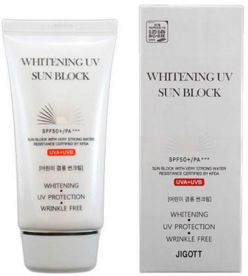 Солнцезащитный крем осветляющий JIGOTT Whitening Uv Sun Block Cream SPF50+/PA+++: фото
