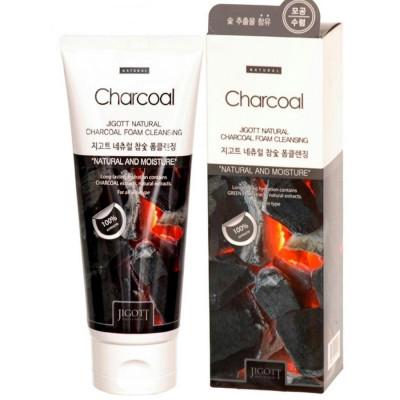 Пенка для умывания с экстрактом древесного угля JIGOTT Natural Charcoal Foam Cleansing: фото