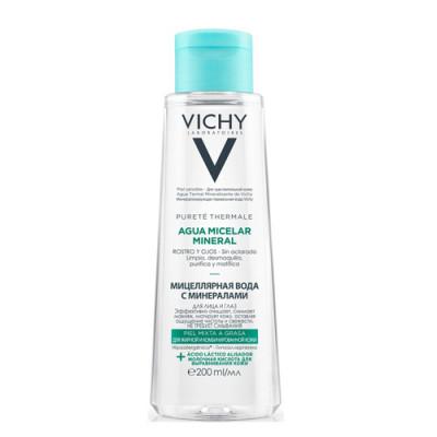 Мицеллярная вода с минералами для жирной и комбинированной кожи Vichy, Purete Thermal 200 мл: фото