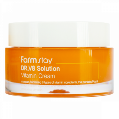Крем с витаминами FarmStay Dr V8 Solution Vitamin Cream 50мл: фото