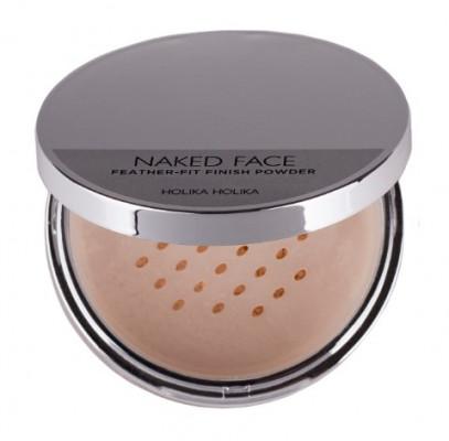 Пудра рассыпчатая Holika Holika Naked Face Feather-Fit Finish Powder бежевый 7 г: фото