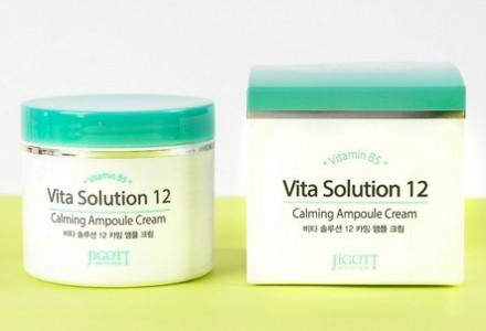 Крем ампульный успокаивающий JIGOTT Vita Solution 12 Calming Ampoule Cream 100 мл: фото