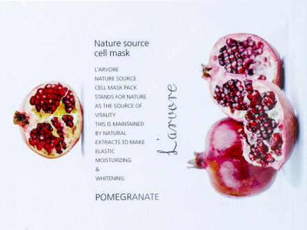 Тканевая маска с гранатом L'arvore Nature Source Cell Mask Pomegranate 25 г: фото