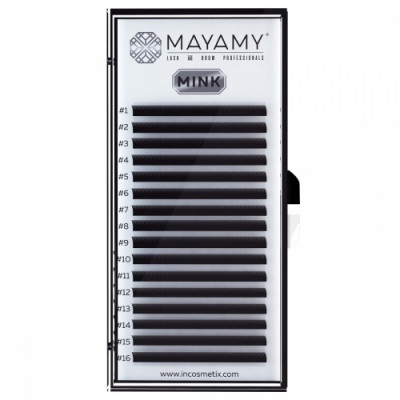 Ресницы MAYAMY MINK 16 линий D 0,07 12 мм: фото