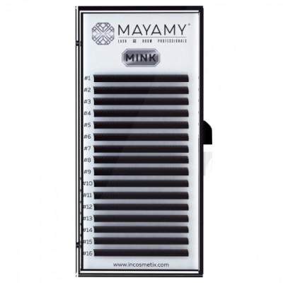Ресницы MAYAMY MINK 16 линий С 0,07 13 мм: фото