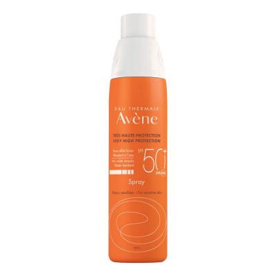 Солнцезащитный спрей для чувствительной кожи SPF 50+ Avene 200 мл: фото
